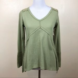NWT Hint of Mint Waffle Knit Top Size Small
